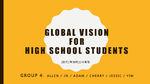 Global vision for high school students